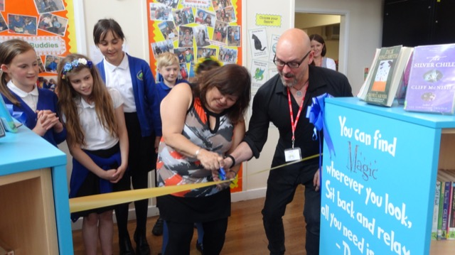 New Library officially opened by author Alex Scarrow.