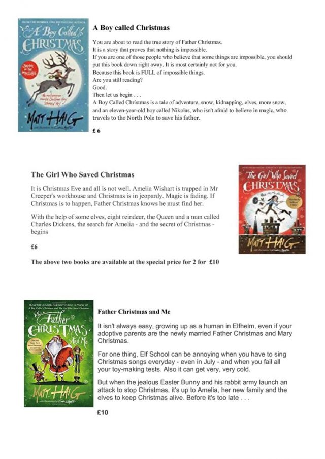 thumbnail of Christmas books for letter