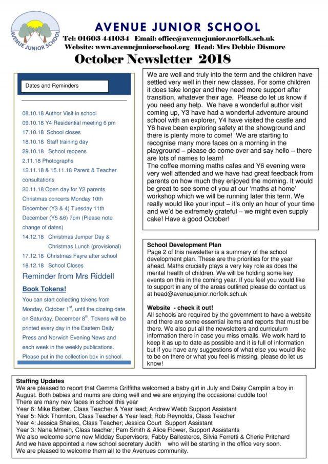 thumbnail of Newsletter October 2018