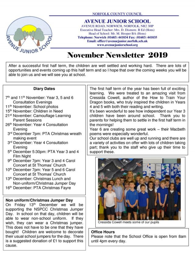 thumbnail of Newsletter November 8th